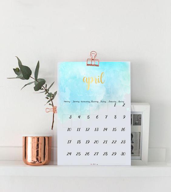 ejemplo calendar abril
