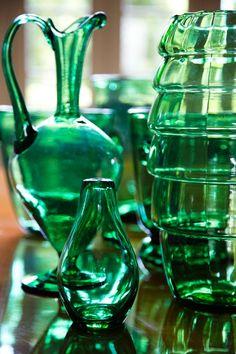 jarones verdes