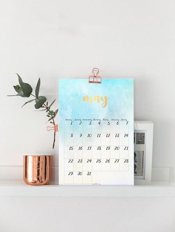 calendar mayo ejemplo