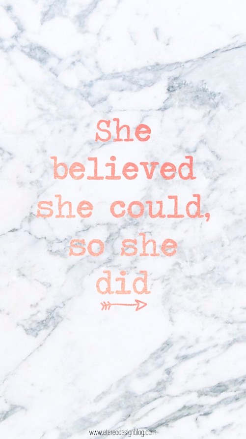 she believe she could