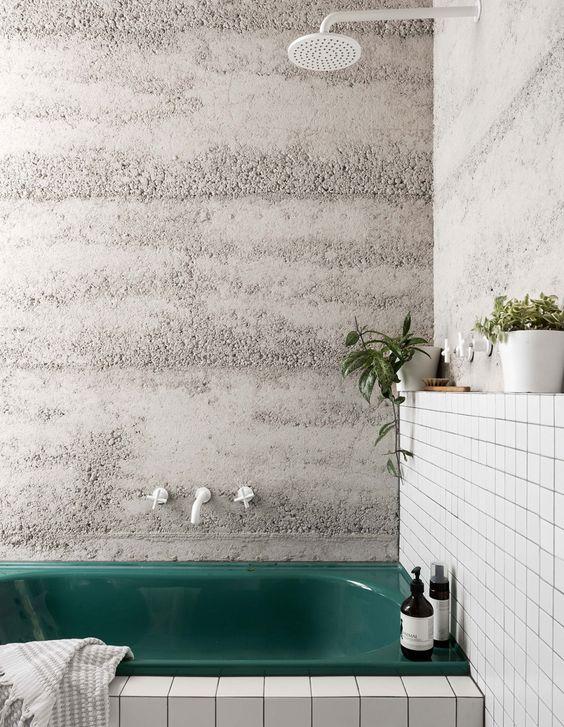 baño con hormigon visto 1