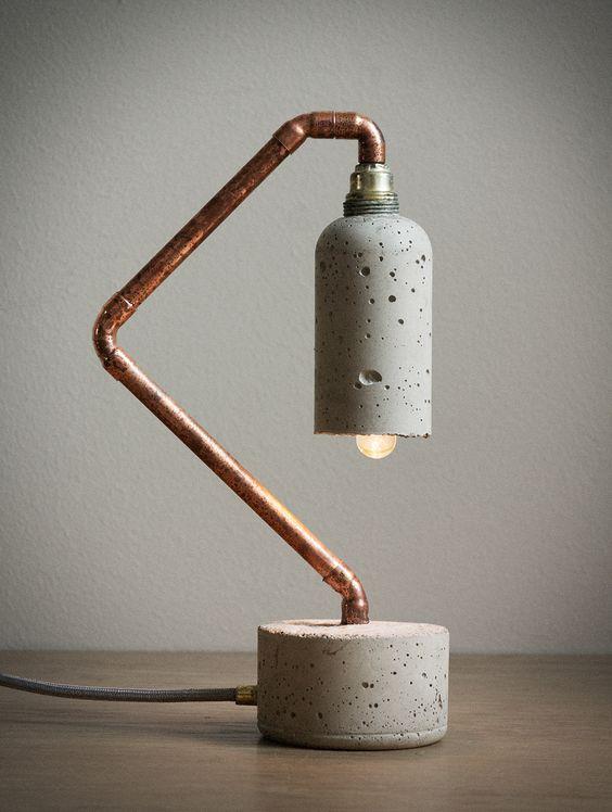 lampara de hormigon