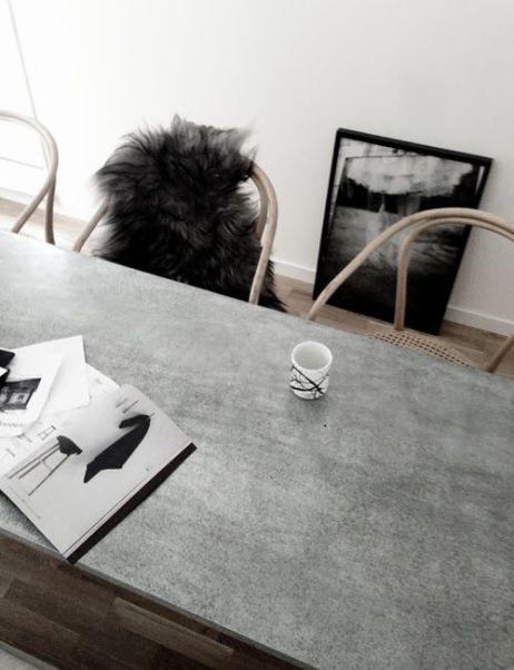 mesa de hormigon