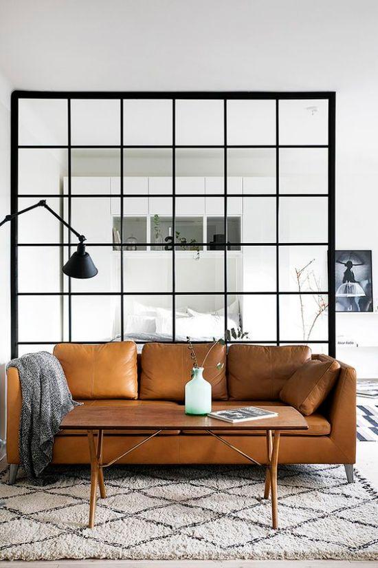 pared de cristal salon