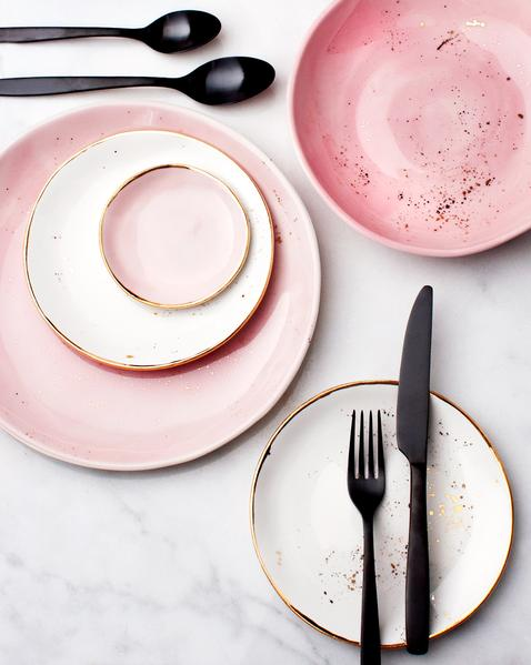 suite-one-studio-dinner-plate-rose-with-gold-splatters-dessert-plates-in-white-with-gold-splatters-organic-bowl-in-rose-with-gold-splatters-rose-ring-d